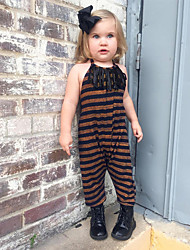 cheap -Kids / Toddler Girls' Solid Colored Sleeveless / Long Sleeve Overall & Jumpsuit