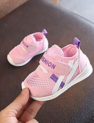 preiswerte -Jungen / Mädchen Schuhe Leinwand Frühling & Herbst Lauflern Sneakers Klettverschluss für Baby Weiß / Blau / Rosa