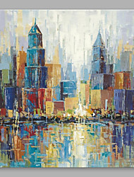 cheap -Oil Painting Hand Painted - Architecture Modern Canvas