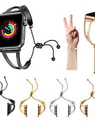 economico -Cinturino per orologio  per Apple Watch Series 4/3/2/1 Apple Cinturino sportivo Acciaio inossidabile Custodia con cinturino a strappo