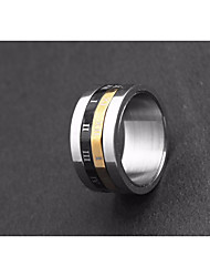 cheap -Men's Stylish Ring - Titanium Steel, Stainless Letter Statement, Trendy, Fashion 7 / 8 / 9 / 10 / 11 Silver For Club Bar