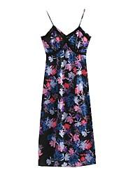 cheap -Women's Basic Little Black Dress - Floral Lace