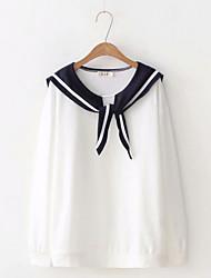 Недорогие -женская рубашка - цветной круглый шею