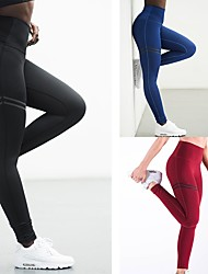 cheap -Women's Sexy Yoga Pants - Red, Green, Blue Sports Solid Color Spandex Tights Fitness, Gym Activewear Moisture Wicking, Compression, Butt Lift High Elasticity