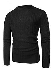 billige -Herre Basale Pullover - Ensfarvet