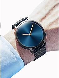 cheap -Men's Women's Dress Watch Wrist Watch Quartz Chronograph Creative New Design Alloy Band Analog Elegant Minimalist Black / Silver - Black Gold / Black Silver / Blue One Year Battery Life / SSUO 377