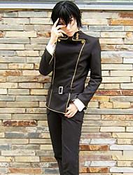 abordables -Inspiré par Code Gease Lelouch Lamperouge Manga Costumes de Cosplay Costumes Cosplay Rayé Manches Longues Haut / Pantalon / Ceinture de Tour de Taille Pour Homme Déguisement d'Halloween