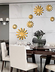 cheap -Decorative Wall Stickers - Mirror Wall Stickers Floral / Botanical Living Room / Bedroom / Bathroom