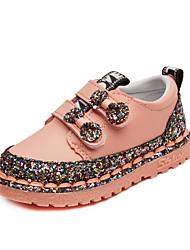 abordables -Chica Zapatos PU Otoño invierno Zapatos para niña florista Bailarinas Paseo Pedrería para Niños Negro / Rojo / Rosa