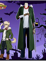 Недорогие -Вдохновлен Моя Академия Героев Bakugou Katsuki Аниме Косплэй костюмы Косплей Костюмы Мода Пальто / Кофты / Брюки Назначение Муж. Костюмы на Хэллоуин