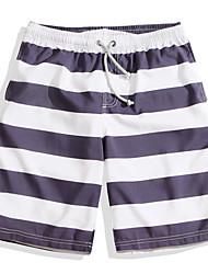 cheap -Men's Swim Shorts Ultra Light (UL), Quick Dry POLY Swimwear Beach Wear Board Shorts / Bottoms Stripe Surfing / Beach / Watersports