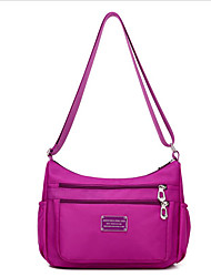 cheap -Women's Bags Nylon Shoulder Bag Zipper Dark Blue / Purple / Light Purple