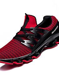 Недорогие -Муж. Сетка / Эластичная ткань Осень Удобная обувь Спортивная обувь Беговая обувь Контрастных цветов Черный / Серый / Красный