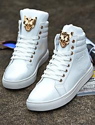 abordables -Homme Chaussures de confort Polyuréthane Printemps Basket Blanc / Noir / Rouge
