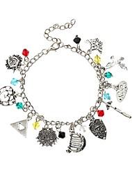 cheap -Women's Vintage Style / Braided Charm Bracelet - Creative Tattoo Style, Anime, Sweet Lolita Bracelet Silver For Carnival / Bikini