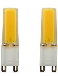 Недорогие -3w g9 мини-силиконовый светодиодный пятно света smd 0930 cob для домашнего внутреннего переменного тока 110v теплый / холодный белый (2 шт)