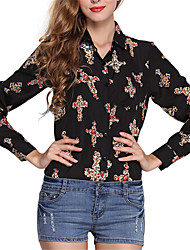 cheap -women's slim blouse - geometric shirt collar