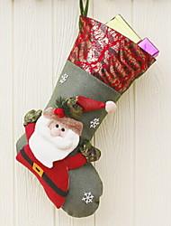 baratos -Meias de Natal Férias Tecido Não-Tecelado Novidades Decoração de Natal