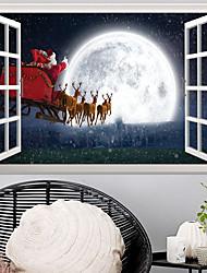 abordables -Autocollants muraux décoratifs - Autocollants muraux 3D / Stickers muraux Paysage / Noël Chambre d'enfants / Chambre des enfants