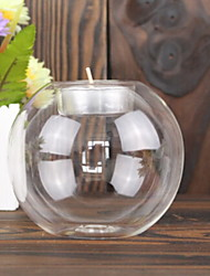 abordables -Style européen Verre Bougeoirs Candélabre 1pc, Bougie / Bougeoir
