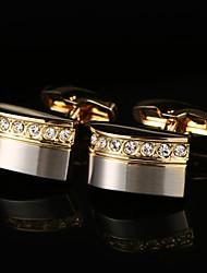 Недорогие -Геометрической формы Золотой Запонки Медь Классика / Классический Муж. Бижутерия Назначение Для вечеринок / Подарок