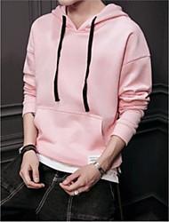 cheap -men's long sleeve hoodie - color block hooded