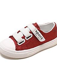 abordables -Garçon Chaussures Polyuréthane Printemps & Automne / Printemps été Confort Basket Marche Paillette / Scotch Magique pour Enfants Noir / Argent / Rouge