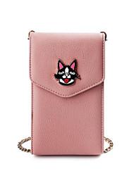 baratos -Mulheres Bolsas PU Telefone Móvel Bag Botões Rosa / Cinzento / Amarelo
