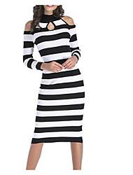 cheap -Women's Going out Slim Sheath Dress Halter Neck
