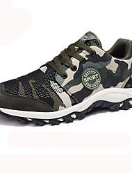 Недорогие -Муж. Полиуретан Наступила зима Удобная обувь Спортивная обувь Беговая обувь Контрастных цветов Военно-зеленный
