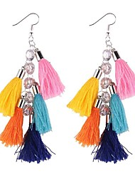 cheap -Women's Braided Earrings - Stylish Blue / Pink / Light Pink For Formal