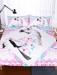 Недорогие -набор для одеяла для одеяла единорога печатный 3 шт.