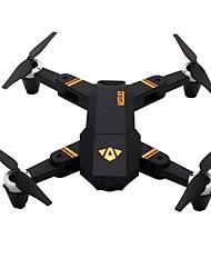baratos -RC Drone VISUO XS809Mini RTF 4CH 6 Eixos 2.4G Com Câmera HD 2.0MP 720P Quadcópero com CR Retorno Com 1 Botão / Modo Espelho Inteligente / Acesso à Gravação em Tempo Real Quadcóptero RC / Controle