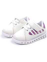 cheap -Boys' Shoes PU(Polyurethane) Spring &  Fall / Fall Comfort Sneakers Walking Shoes Magic Tape / LED for Kids Light Purple / Red / Blue / Color Block