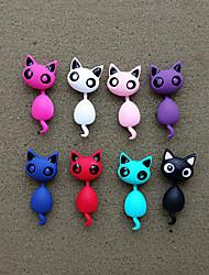 cheap -Women's Stylish Front Back Earrings / Ear Jacket - Cat Stylish, Punk, Sweet Red / Blue / Light Pink For Gift / Date