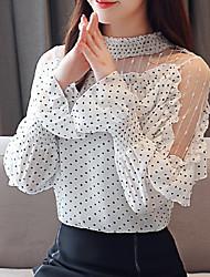 cheap -Women's Basic Blouse - Polka Dot Print