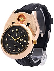 cheap -Men's Wrist Watch Japanese Quartz Chronograph Creative New Design Rubber Band Analog Bangle Fashion Black - Gold Silver Two Years Battery Life / Large Dial