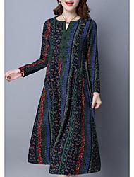 Недорогие -Жен. Шинуазери (китайский стиль) Оболочка Платье - Графика, С принтом Средней длины