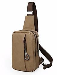baratos -Mulheres Bolsas Tela de pintura Sling sacos de ombro Ziper Preto / Cinzento / Café