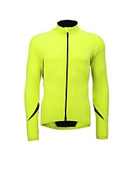 baratos -Jaggad Homens Jaqueta para Ciclismo Moto Camisa / Roupas Para Esporte / Jaqueta de Inverno A Prova de Vento, Respirável Sólido Elastano, Lycra Inverno Vermelho / Verde / Azul Intermediário Roupa de