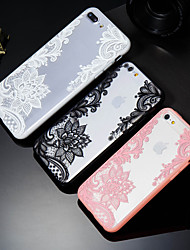 baratos -Capinha Para Apple iPhone X / iPhone 8 Plus Estampada Capa traseira Lace Impressão Rígida PC para iPhone X / iPhone 8 Plus / iPhone 8
