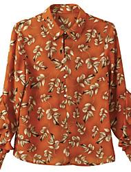 cheap -women's work shirt - floral v neck