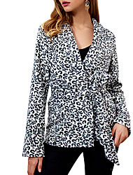 cheap -Women's Street chic / Sophisticated Coat - Leopard, Print