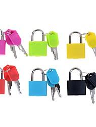 Недорогие -1pc прочный стальной висячий замок крошечный чемодан с 2 ключами случайный