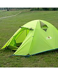 """Недорогие -BSwolf 2 человека Семейный кемпинг-палатка Двухслойные зонты Карниза Палатка На открытом воздухе Легкость, Дожденепроницаемый, Воздухопроницаемость для 2000-3000 mm Ткань """"Оксфорд"""", Терилен"""
