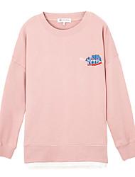 billige -Dame Sweatshirt - Ensfarvet Bomuld