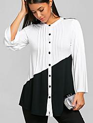 cheap -Women's Work Shirt - Color Block