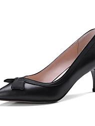 baratos -Mulheres Sapatos Pele Napa Primavera Plataforma Básica Saltos Salto Agulha Preto / Amêndoa