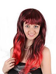Недорогие -Парики из искусственных волос Маскарадные парики Кудрявый Стиль Стрижка боб Машинное плетение Парик Черный / Красный Искусственные волосы 26 дюймовый Жен. Модный дизайн Косплей Мягкость Красный Черный