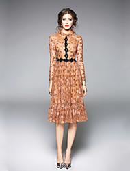 cheap -SHE IN SUN Women's Elegant Swing Dress Lace